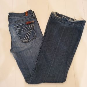 7 For All Mankind Dojo Low Rise Flare Jeans 26